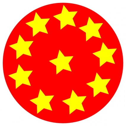 free download of red circle with stars clip art vector graphic rh vector me