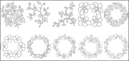 Free download of flower type of line drawing vector diagram 6 vector flowers treesbusiness ccuart Images