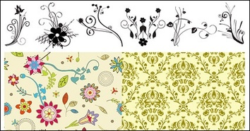 Patterns,Vintage,Flowers & Trees,Flourishes & Swirls,Backgrounds,Ornaments,Nature