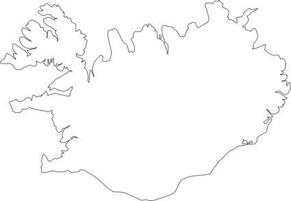 Free download of Map Of Iceland clip art Vector Graphic - Vector.me