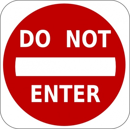 Do Not Enter Sign clip art vector, free vector graphics - Vector.