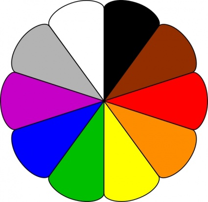 Flower Colors clip art vector, free vector graphics - Vector.me