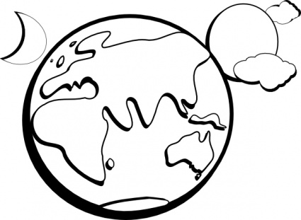 free download of earth moon sun outline clip art vector graphic rh vector me