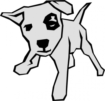 Free download of Simple Outline Drawn Drawing Dog Free Straight Dogs