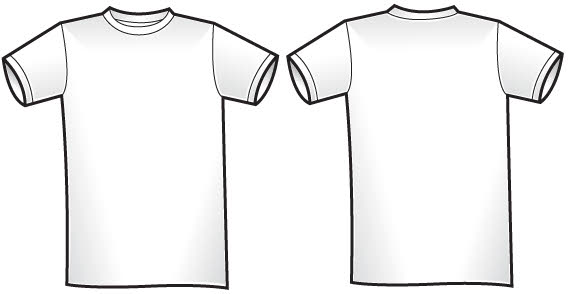 Twosided t shirt template free vector vector free vectors for T shirt design vector free download