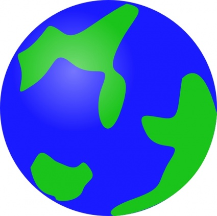 Green Geography Globe Planet Earth Cartoon Round vector ...