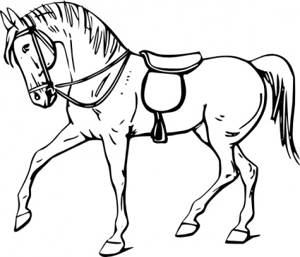 free download of walking horse outline clip art vector graphic rh vector me horse clipart black and white png horse clipart black and white free