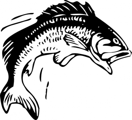 Animals_outline_silhouette_cartoon_bass_fish_free_automatic_jumping_fishing_fisch