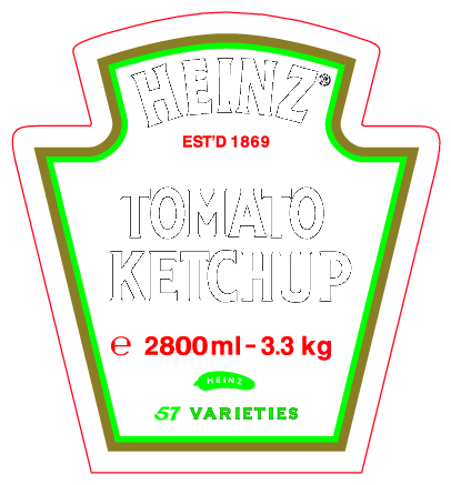 Free download of heinz tomato ketchup vector logo for Heinz label template
