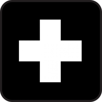 Free download of First Aid Map Sign clip art Vector Graphic - Vector.me