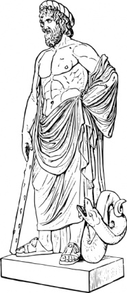 ancient greek art sculpture coloring pages | Outline Health Roman Medicine Historic Statue Greek ...