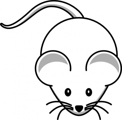 Free download of Animals Baby Computer Mouse Black Simple Outline