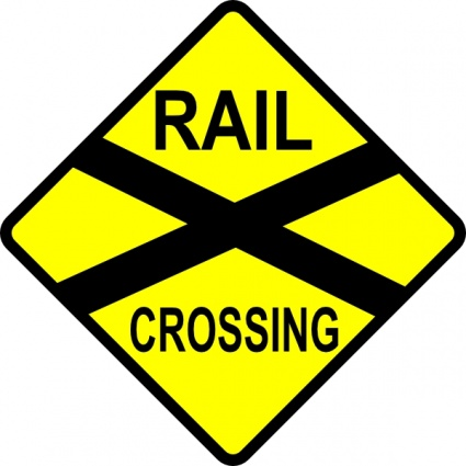 Image result for train warning sign public domain vector graphic