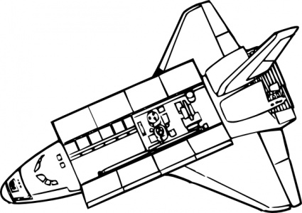 space shuttle outline printables - photo #35