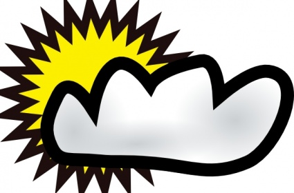 free download of sunny partly cloudy weather clip art vector graphic rh vector me  sunny partly cloudy clipart