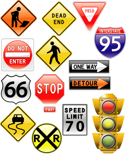 Free Download Of Road Signs Traffic Light Vector Graphic Vector