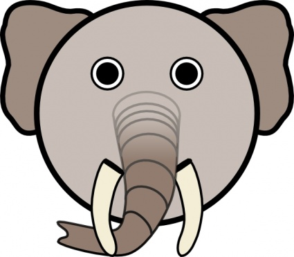 free download of elephant with rounded face clip art vector graphic rh vector me elephant face images clip art Baby Elephant Clip Art