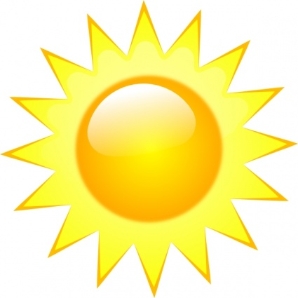 Symbols Weather Clear Sunny free vector | Download it now!