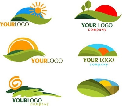 Orange Circle With Green Leaf Logo Collection of nature logosOrange Circle With Green Leaf Logo