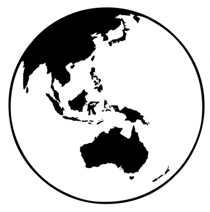 free download of earth globe oceania clip art vector graphic vector me rh vector me  layers of earth clipart black and white