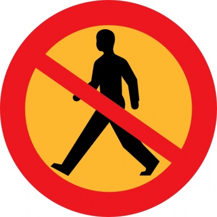 Free Download Of No Entry Sign With A Man Clip Art Vector Graphic