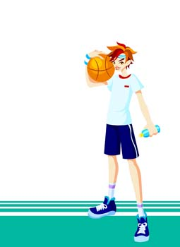 Free download of Basketball sport vector 2 Vector Graphic