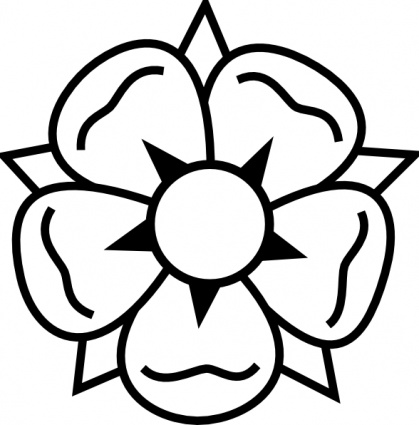 Flower tattoo clip art vector free vectors for Drawings of cartoon flowers