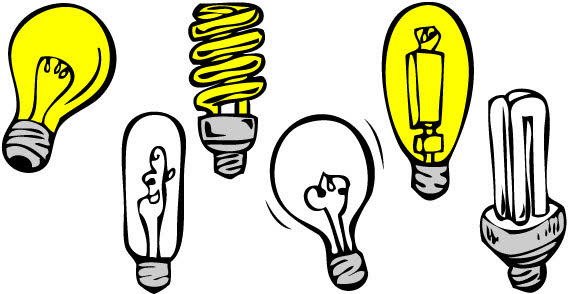 Free download of Different shape and type light bulbs free ...