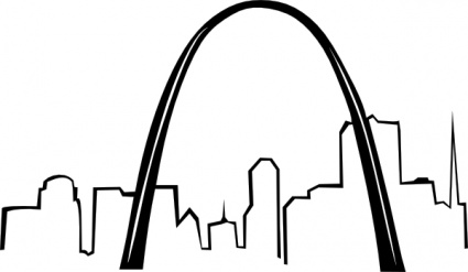 Free download of St Louis Gateway Arch clip art Vector ...