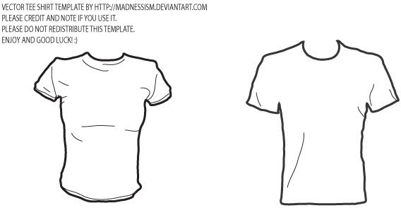 Female and male t shirt template free vector vector free for Clothing templates for illustrator