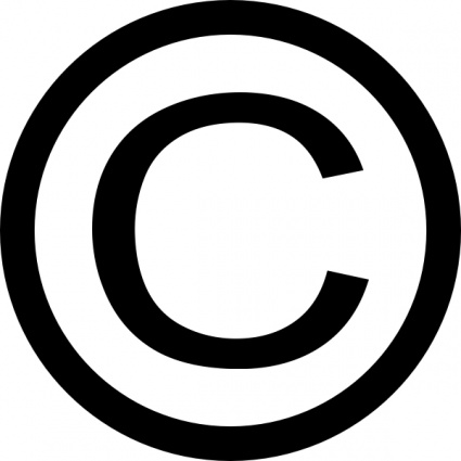 Free download of Thin Copyright Symbol clip art Vector ...