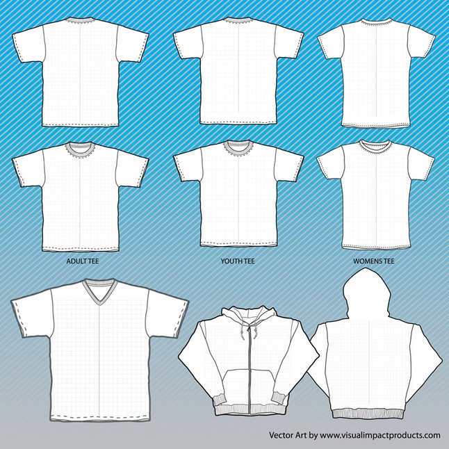 T Shirts Mock Up Vector Free Vector Images