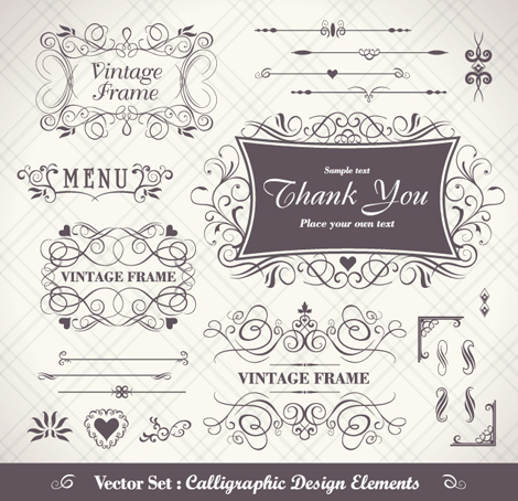 Free download of Ferrous of Vintage Frame Vector Vector Graphic ...