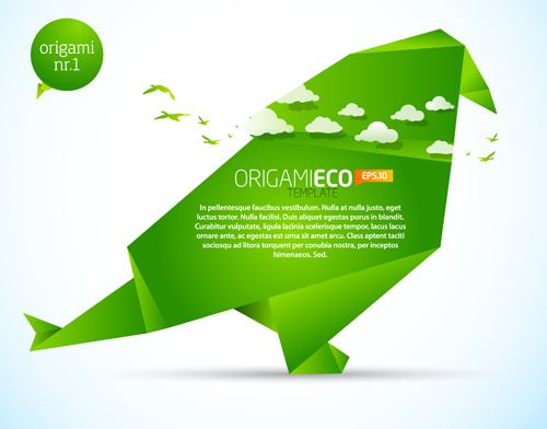 Free Download Of Origami ECO Template Vector Graphic