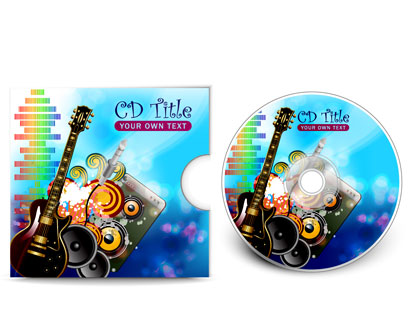 cd cover presentation template vector, free vector graphics, Presentation templates