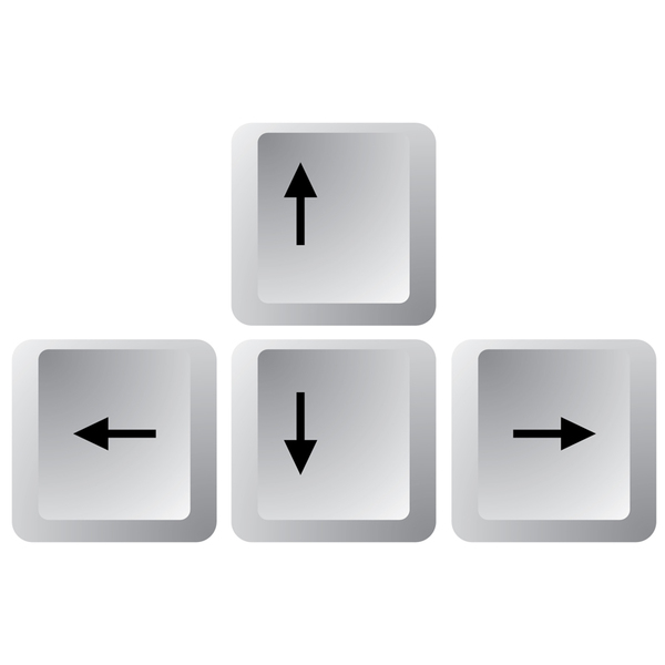 how to make an arrow with keyboard