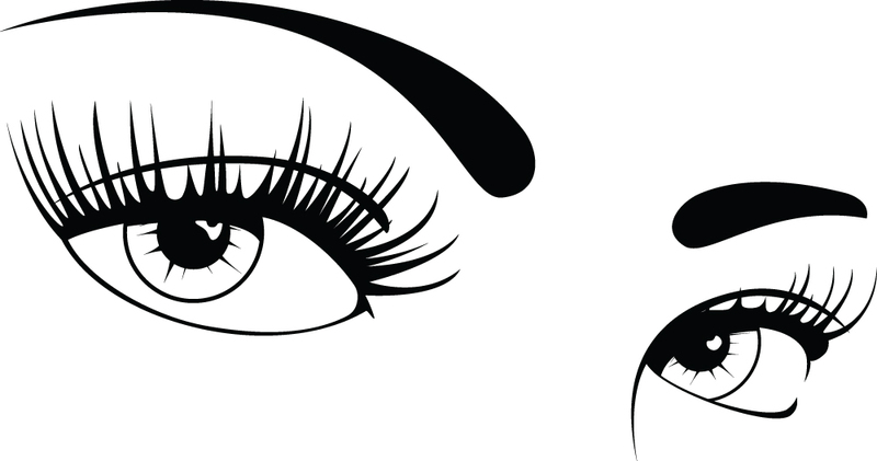 Eye Makeup Drawing Coloring Pages