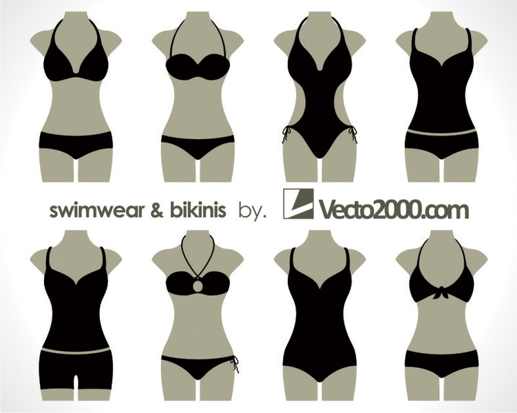 Free Download Of Illustration Vector Of Swimwear And Bikinis Vector