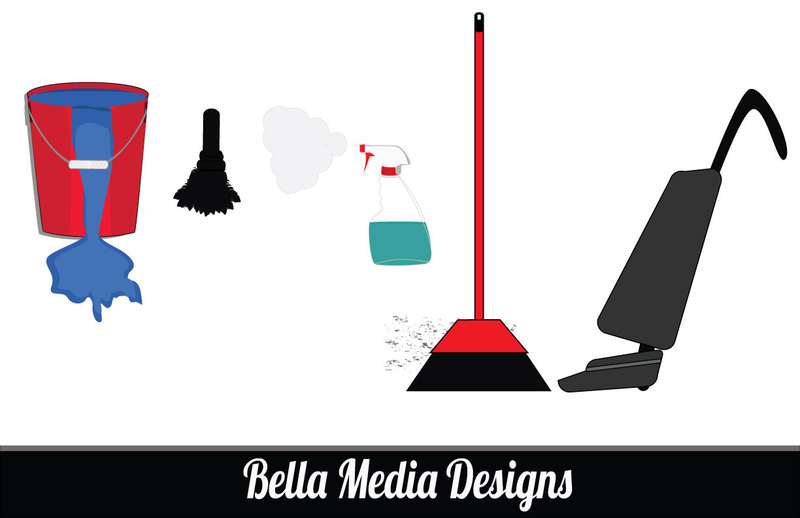 House Work(cleaning supplies) Vectors vector, free vector images ...