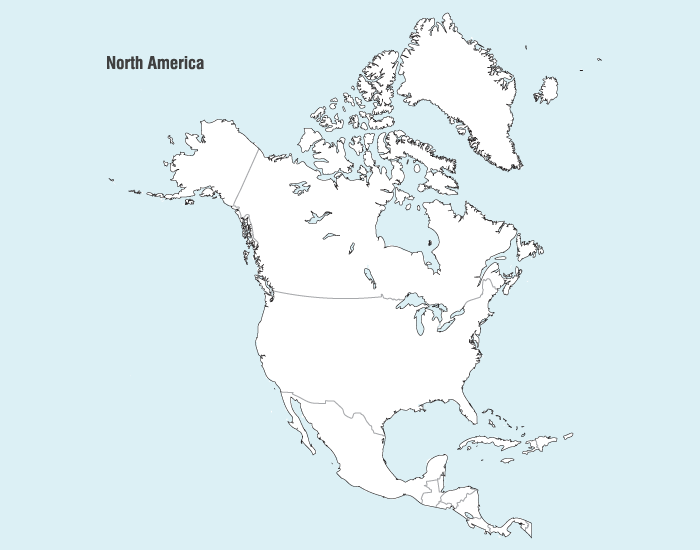 North America Map Vector Free Images Vectorme
