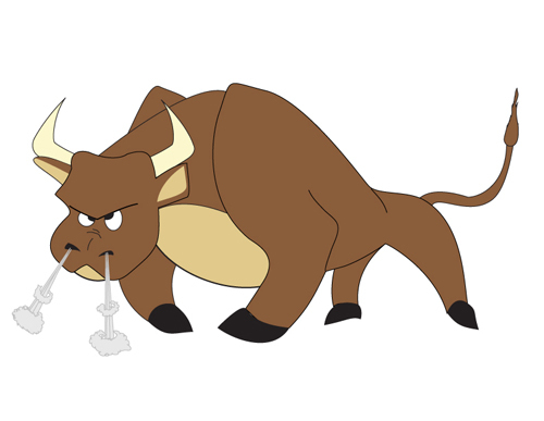 Free download of cartoon bull vector graphic me