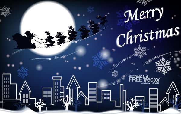 Free download of vector picture christmas card vector graphic businessholiday seasonaltemplatesobjectsbuildingsnature reheart Images