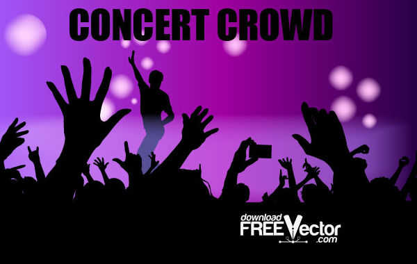 Free Vector Concert Crowd vector, free vector graphics ...