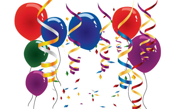 Balloons and streamers vector, free vector graphics - Vector.me