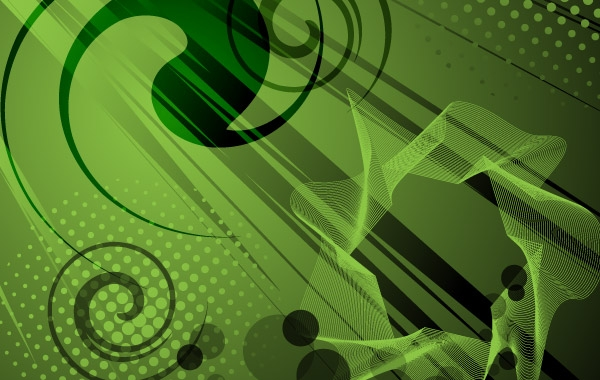 Abstract Green Vector Background free vector