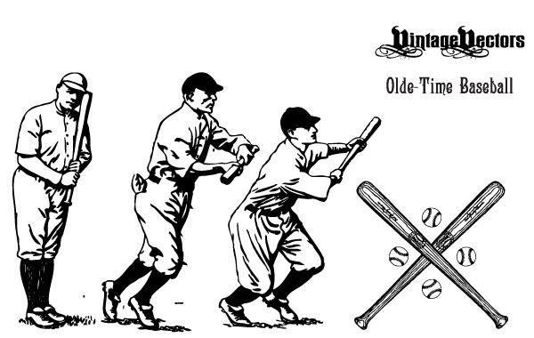 Olde Time Baseball Vectors
