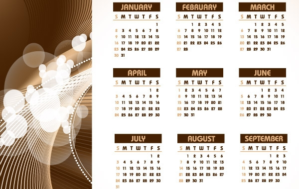 Free Download Of 2011 Table Calendar Template Vector Design Corel
