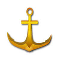 Anchorankershipsailingseasailing Ship Anchor Golden