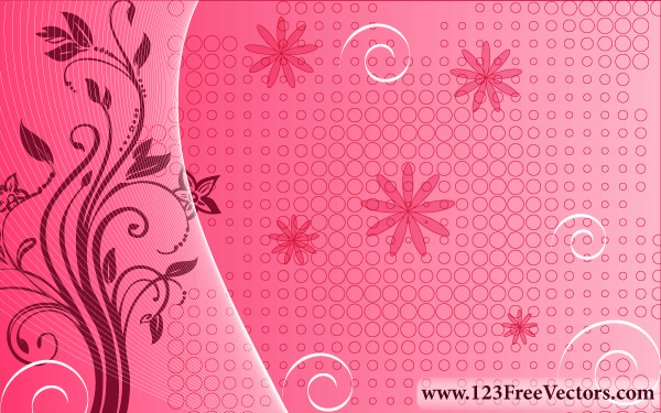 Free Download Of Pink Floral Background Vector Graphic