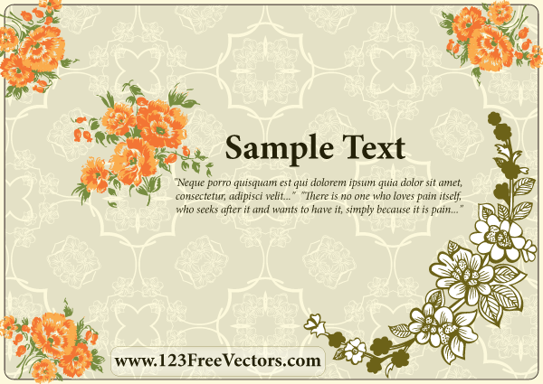 Free download of flower wedding invitation card vector graphic backgroundsbusinessornamentsflourishes swirlsflowers treesnature stopboris Choice Image